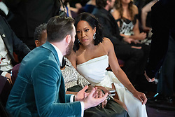 Chris Evans and Regina King, Oscar® winner, talk during the live ABC Telecast of The 91st Oscars® at the Dolby® Theatre in Hollywood, CA on Sunday, February 24, 2019.