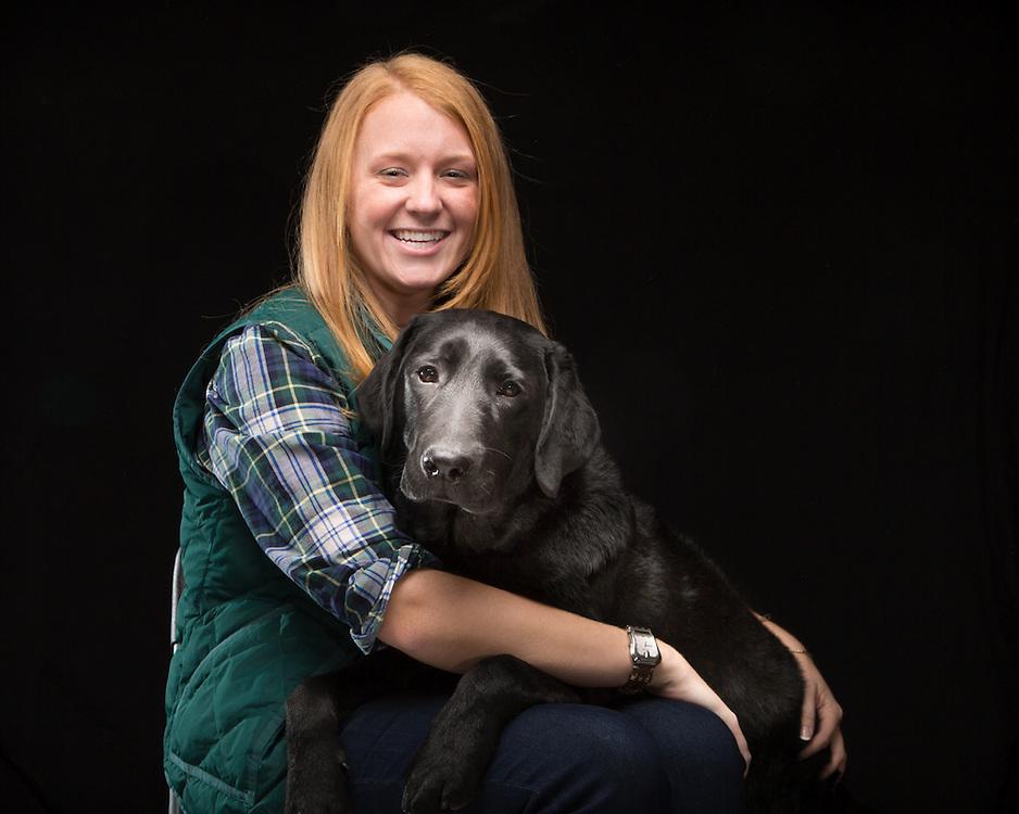 Black Dog, Denver with his owner