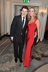 TONY McCOY and his wife CHANELLE at the 22nd Cartier Racing Awards held at The Dorchester, Park Lane, London on 13th November 2012.