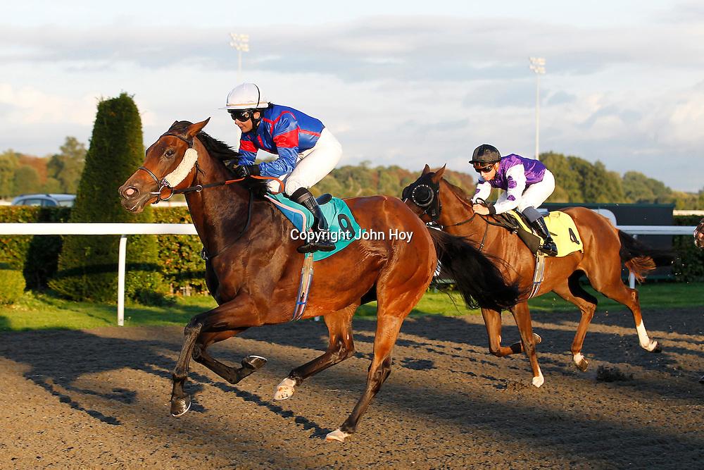 Princess Spirit and Jennifer Ferguson winning the 6.10 race