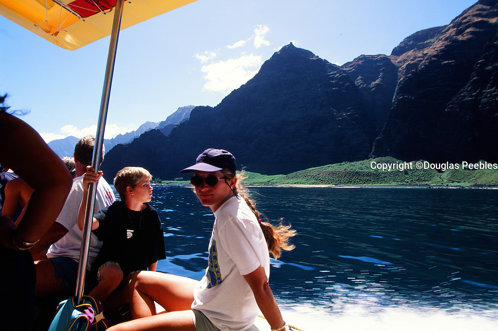 Boat ride, Napali Coast, Kauai, Hawaii