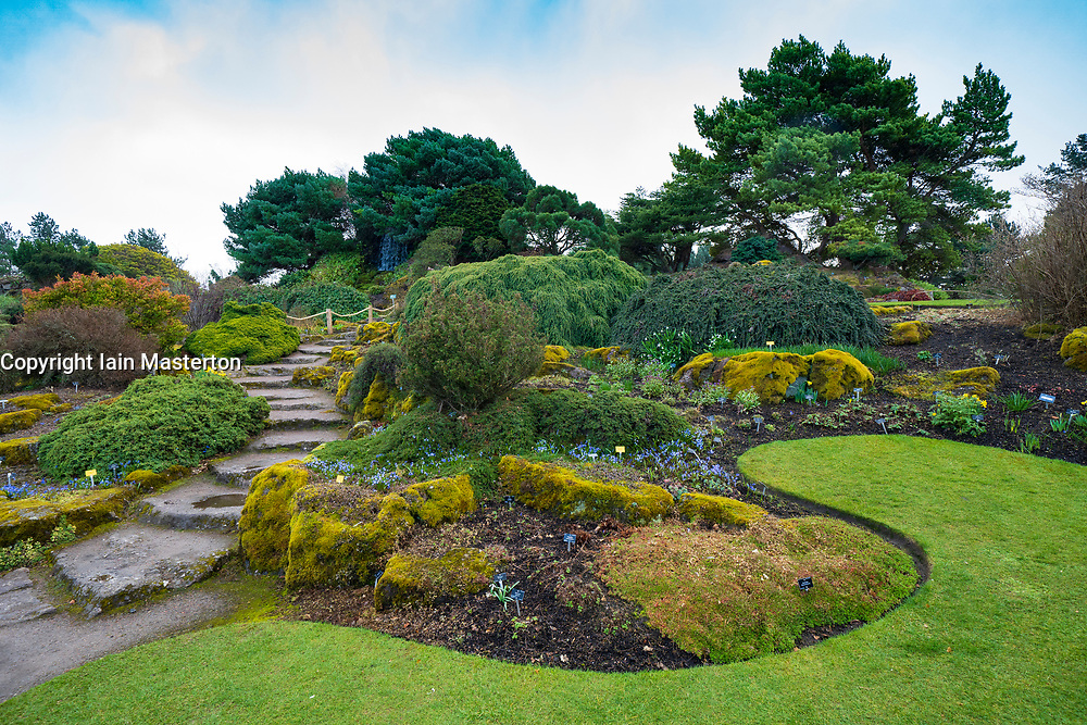 The Rock Garden in Royal Botanic Garden Edinburgh, Scotland ,UK