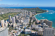 Aerial, Waikiki, Honolulu, Oahu, Hawaii