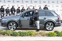 Dani Ceballos of Real Madrid CF poses for a photograph after being presented with a new Audi car as part of an ongoing sponsorship deal with Real Madrid at their Ciudad Deportivo training grounds in Madrid, Spain. November 23, 2017. (ALTERPHOTOS/Borja B.Hojas)