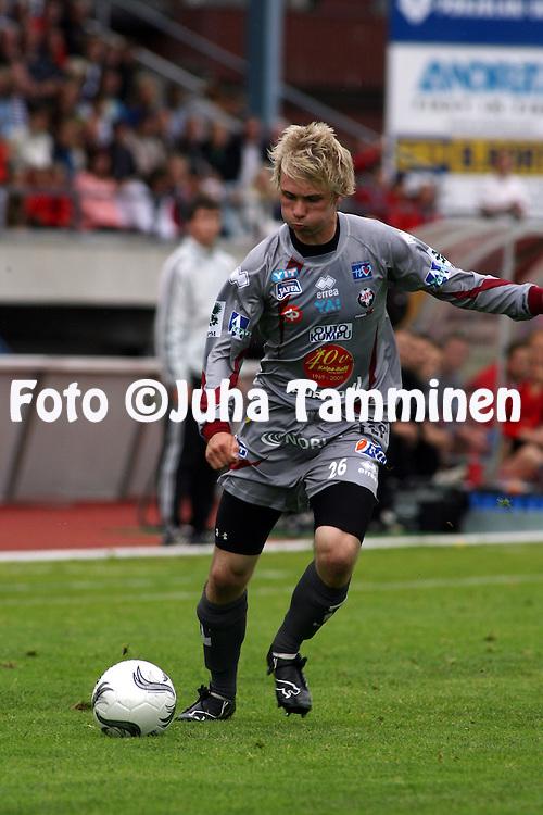 25.07.2009, Pietarsaari, Finland..Veikkausliiga 2009 - Finnish League 2009.FF Jaro - FC Inter Turku.Tommi Haanp?? - Jaro.©Juha Tamminen.