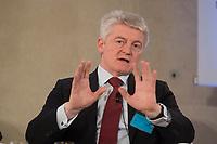 "25 MAY 2012, BERLIN/GERMANY:<br /> Heinrich Hiesinger, Vorstandsvorsitzender ThyssenKrupp AG, Global Business Dialogue ""Beyond Uncertain Times: A Growth Agenda"", axica Konferenzzentrum<br /> IMAGE: 20120525-02-007"