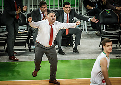 Makis Giatras, coach of Promitheas Patras  during basketball match between KK Petrol Olimpija and Promitheas Patras in Round #9 of FIBA Basketball Champions League 2018/19, on December 18, 2018 in Arena Stozice, Ljubljana, Slovenia. Photo by Vid Ponikvar / Sportida