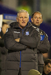 BIRKENHEAD, ENGLAND - Tuesday, March 6, 2012: Tranmere Rovers' new manager Ronnie Moore and assistant Kevin Summerfield during the Football League One match against Notts County at Prenton Park. (Pic by David Rawcliffe/Propaganda)