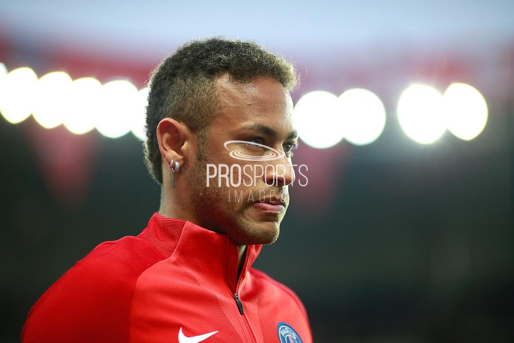 Paris Saint Germain's Brazilian forward Neymar Jr warms up before the French championship L1 football match between Paris Saint-Germain (PSG) and Saint-Etienne (ASSE), on August 25, 2017 at the Parc des Princes in Paris, France - Photo Benjamin Cremel / ProSportsImages / DPPI