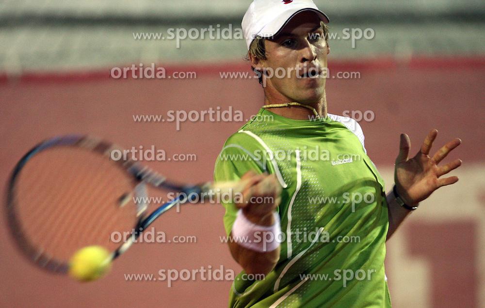 Grega Zemlja of Slovenia at 1st Round of ATP Challenger BMW Ljubljana Open 2008, on September 8, 2008, Ljubljana, Slovenia. (Photo by Vid Ponikvar / Sportal Images)...