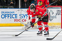 KELOWNA, CANADA - JANUARY 21: Cody Glass #8 of the Portland Winterhawks lines up against the Kelowna Rockets on January 21, 2017 at Prospera Place in Kelowna, British Columbia, Canada.  (Photo by Marissa Baecker/Getty Images)  *** Local Caption *** Cody Glass;