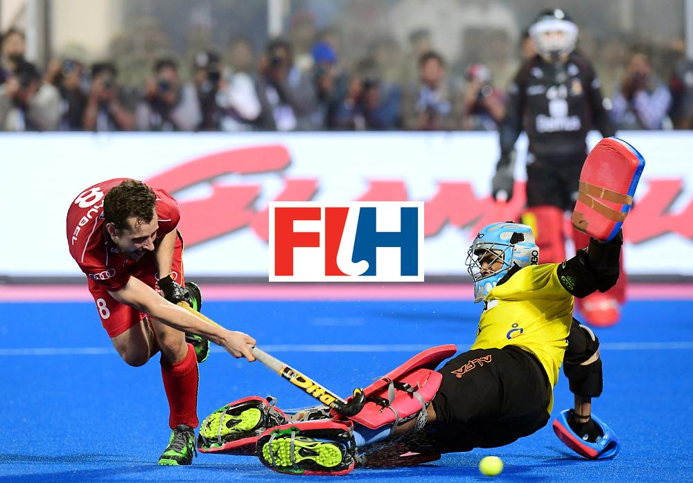 Odisha Men's Hockey World League Final Bhubaneswar 2017<br /> Match id:13<br /> Belgium v India<br /> Foto: Shoot Out<br /> Florent van Aubel (Bel)  scored<br /> COPYRIGHT WORLDSPORTPICS FRANK UIJLENBROEK