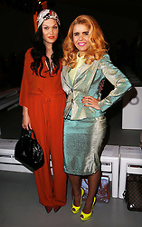 Jessie J and Palamo Faith at the Vivienne Westwood show  at London Fashion Week A/W 2014, Sunday, 16th February 2014. Picture by Stephen Lock / i-Images