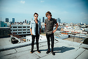 2015 portrait of band Austinn from Luxembourg, taken on a rooftop in Los Angeles.