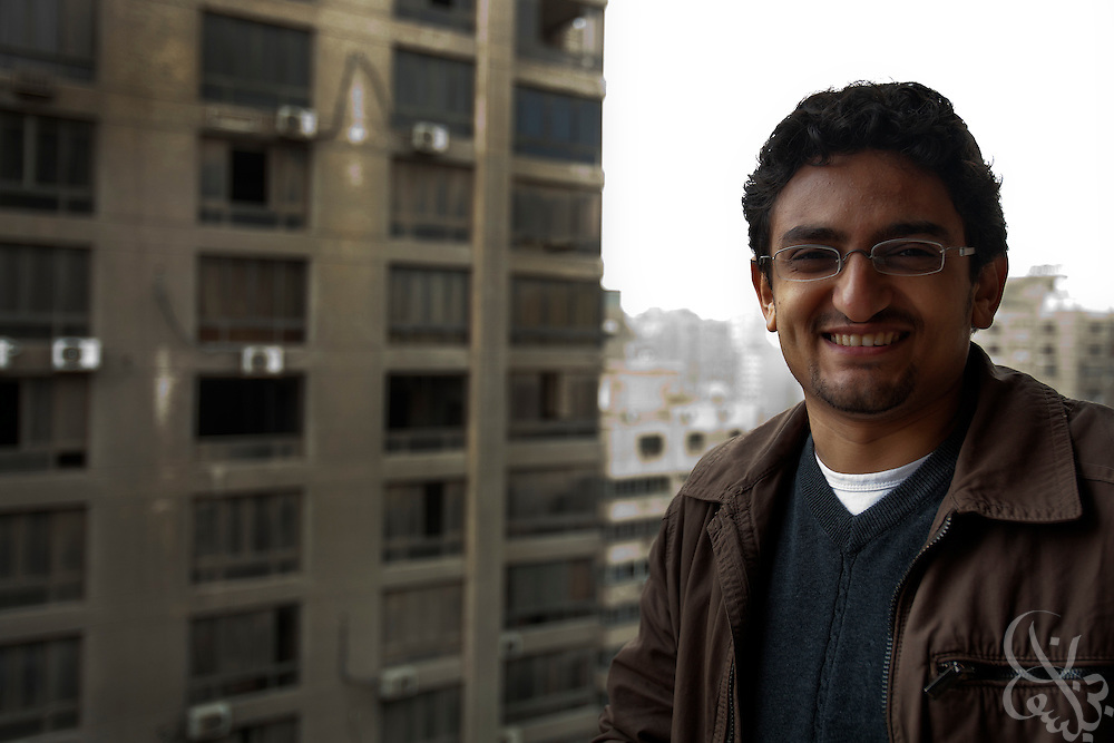 """Egyptian revolutionary activist Wael Ghonim poses for a portrait January 22, 2012 in Cairo, Egypt. Ghonim famously started the initial revolutionary Facebook page calling for widespread demonstrations last year against the rule of then President Hosni Mubarak's regime,  helping lead to the historic 18 day uprising that swept them from power. His new book, """"Revolution 2.0"""", is an insiders' account of the revolution and a revealing behind the scenes look at the Egyptian revolutionaries that made it possible."""