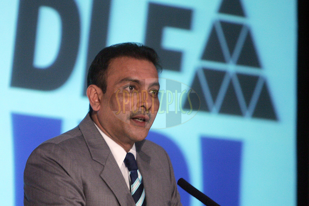 CAPE TOWN, SOUTH AFRICA - 16 April.  Ravi Shastri during the IPL press conference held at the Roof Top Terrace in the Cape Town Convention Center ( CTICC )  to launch the IPL Season two which is being held in South Africa between the 18 April and 24th May 2009.