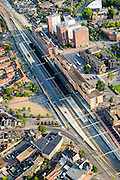 Nederland, Noord-Holland, Hilversum, 05-08-2014; centrum Hilversum met NS-station en stationsgebied.<br /> City centre Hilversum with railway station area.<br /> luchtfoto (toeslag op standaard tarieven);<br /> aerial photo (additional fee required);<br /> copyright foto/photo Siebe Swart.
