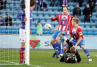 Fotball <br /> Tippeligaen Eliteserien <br /> 06.04.09 <br /> Ullevaal Stadion <br /> Vålerenga VIF - Tromsø TIL<br /> Sigurd Rushfeldt scorer 0-2<br /> Foto - Kasper Wikestad
