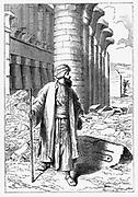 Giovanni Battista Belzoni (1778-1823) Italian explorer and antiquities seeker, examining the ruins of Karnak in Egypt.