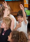 Jennifer Moore teaches her 1st grade class at Harvard Elementary School, May 1, 2013.