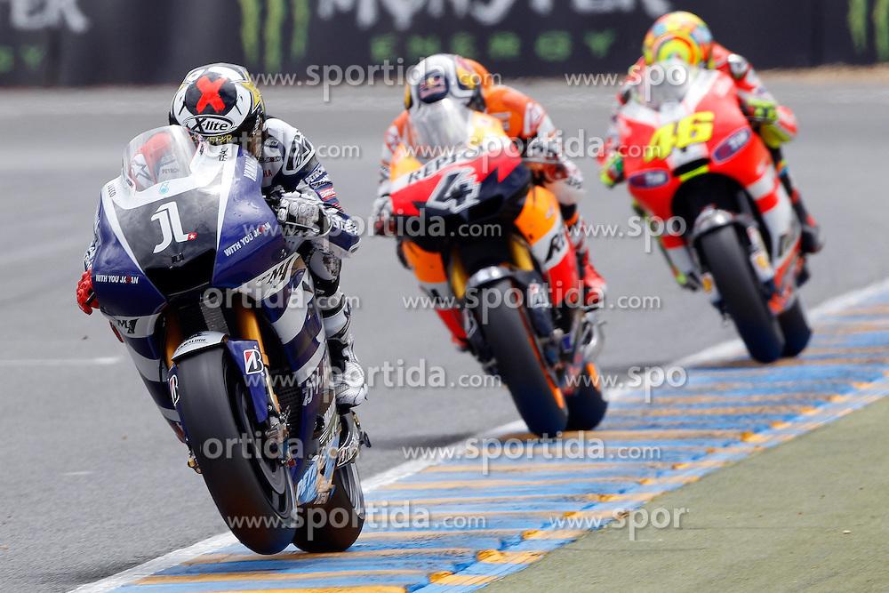15.05.2011, Le Mans, FRA, MotoGP, Motomondiale Le Mans, im Bild Jorge Lorenzo - Yamaha factory team .EXPA Pictures © 2011, PhotoCredit: EXPA/ InsideFoto/ Semedia +++++ ATTENTION - FOR AUSTRIA/AUT, SLOVENIA/SLO, SERBIA/SRB an CROATIA/CRO CLIENT ONLY +++++