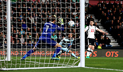David Nugent of Derby County shoots at goal - Mandatory by-line: Robbie Stephenson/JMP - 31/03/2017 - FOOTBALL - iPro Stadium - Derby, England - Derby County v Queens Park Rangers - Sky Bet Championship