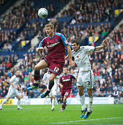 PRESTON, ENGLAND - Saturday, September 24, 2011: Tranmere Rovers' Ash Taylor in action against Preston North End during the Football League One match at Deepdale. (Pic by Dave Kendall/Propaganda)