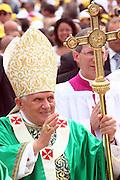 San Giovanni Rotondo 21 Giugno 2009, Visita Pastorale di Sua Santità Papa Benedetto  XVI , Italy San Giovanni Rotondo 21 06 2009, Visit of  Papa Benedetto  XVI in the foto arrivo del papa
