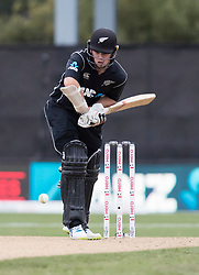 New Zealand's Tom Latham plays a shot against England in the fourth one day cricket international at the University of Otago Oval, Dunedin, New Zealand, Wednesday, March 7, 2018. Credit:SNPA / Adam Binns ** NO ARCHIVING**