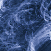 &quot;Blowin Smoke in Blue&quot; <br /> <br /> A beautiful abstract piece in deep dark blues with swirls of light blue and white!