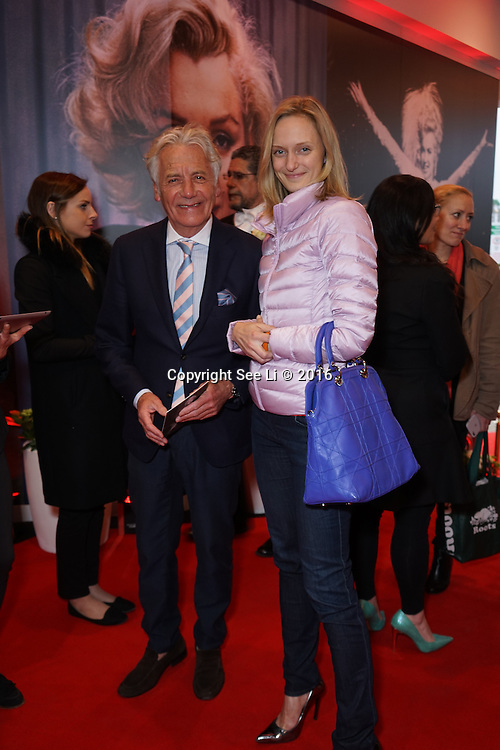 London,England,UK : 25th May 2016 : Jeff Bank with a unknow young ladies attend the Marilyn Monroe: Legacy of a Legend launch at the Design Centre, Chelsea Harbour, London. Photo by See Li