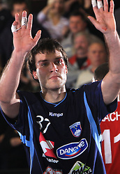 Dino Bajram at handball match of 5th Round of qualifications for EHF Euro 2010 in Austria between National team of Slovenia vs Bulgaria, on November 30, 2008 in Velenje, Slovenia. (Photo by Vid Ponikvar / Sportida)
