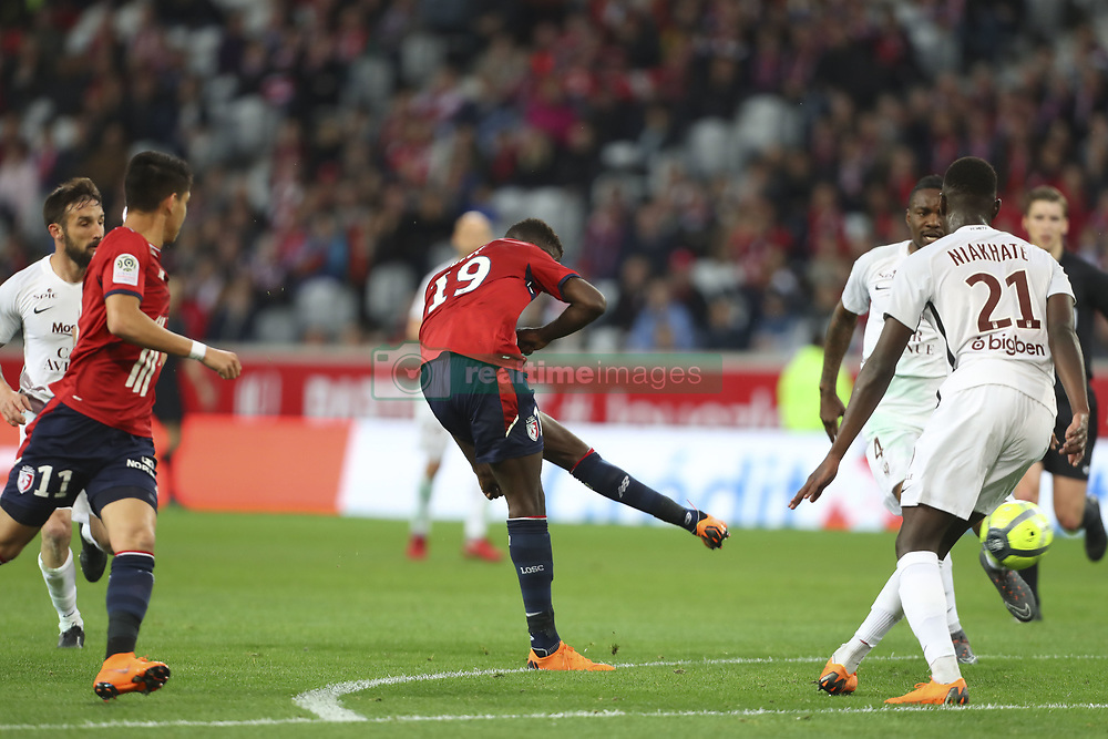 April 28, 2018 - Villeneuve D Ascq, France - Nicolas Pepe ( Lille )  marque (Credit Image: © Panoramic via ZUMA Press)