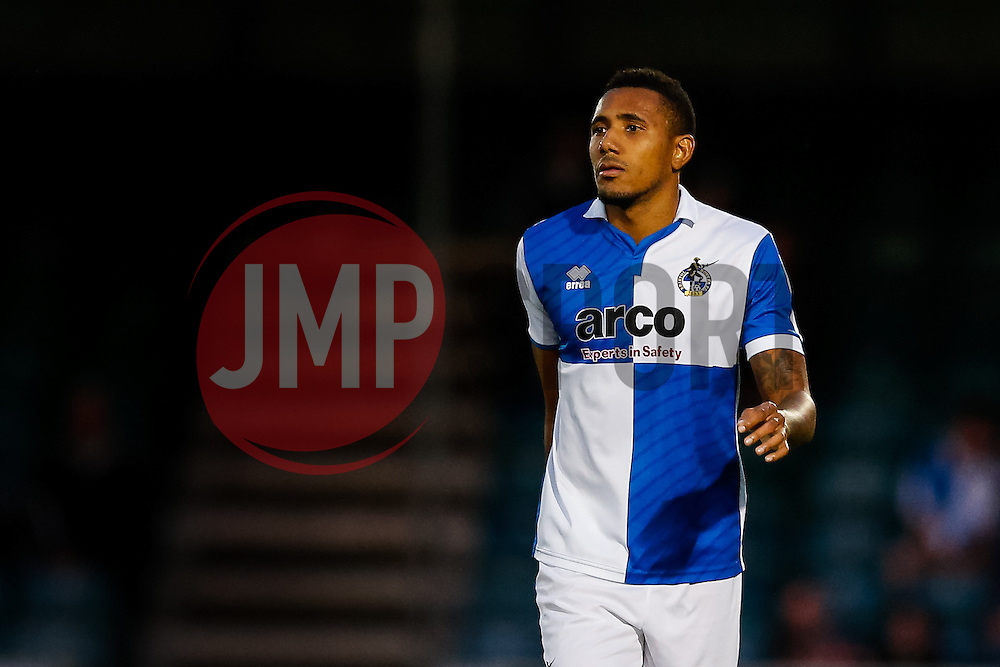 Cristian Montano of Bristol Rovers looks on - Mandatory byline: Rogan Thomson/JMP - 07966 386802 - 31/07/2015 - FOOTBALL - Memorial Stadium - Bristol, England - Bristol Rovers v West Bromwich Albion - Phil Kite Testimonial Match.