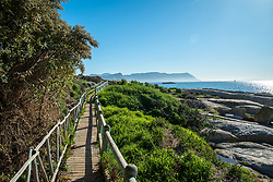 A walkway near Boulder's Beach, the popular penguin watching-spot in Simon's Town. While Boulder's Beach is closed, this nearby path was accessible. While public spaces, in theory, are closed under Level 3 lockdown regulations, much of the public seemed to have decided that these spaces are now open. Workers could also be seen tidying up some of these spaces today, Wednesday June 24, 2020. The city of Cape Town has appealed to the national government to ease the lockdown on public spaces, and it appears they may be preparing to open officially. PHOTO: EVA-LOTTA JANSSON