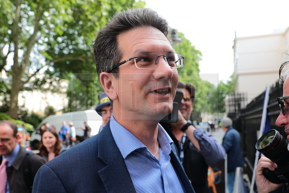 © Licensed to London News Pictures. 12/06/2019. London, UK. Steve Baker arrives at the official launch event for Boris Johnson's campaign to become Leader of the Conservative Party and the next Prime Minister. Photo credit: Rob Pinney/LNP