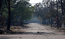 21 Sept 2005. Slidell, Louisiana. Hurricane Katrina aftermath. <br /> The deserted streets and houses of Slidell in Eastern New Orleans as the flood waters finally receded.<br /> Photo; ©Charlie Varley/varleypix.com