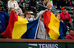 March 10, 2019 - Indian Wells, USA - Simona Halep Fans at the 2019 BNP Paribas Open WTA Premier Mandatory tennis tournament (Credit Image: © AFP7 via ZUMA Wire)