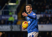 Portsmouth striker Conor Chaplin during the Sky Bet League 2 match between Portsmouth and Leyton Orient at Fratton Park, Portsmouth, England on 6 February 2016. Photo by Adam Rivers.