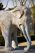 Statue of a standing elephant, Spirit Way, Ming Tombs, Beijing (Peking), China