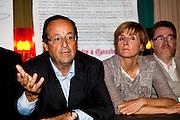 FRANCOIS HOLLANDE et CECILE HELLE en Avignon pour le festival 2011