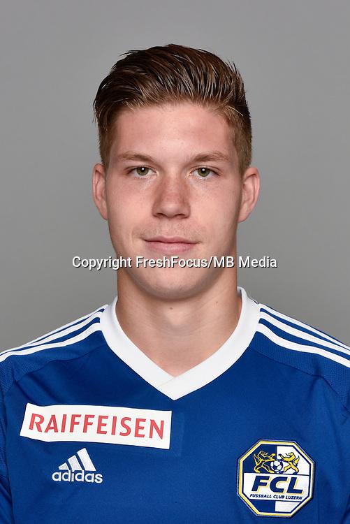 15.07.2016; Luzern; Fussball - FC Luzern;<br />Cedric Itten (Luzern)<br />(Martin Meienberger/freshfocus)