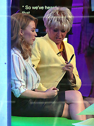 Singer Kylie Minogue and tv presenter Gloria Hunniford on The One Show at BBC studios in London, UK. 12/05/2014<br />BYLINE MUST READ : JAMESY/GOTCHA IMAGES<br /><br />Copyright by © Gotcha Images Ltd. All rights reserved.<br />Usage of this image is conditional upon the acceptance <br />of Gotcha Images Ltd, terms and conditions available at<br />www.gotchaimages.com