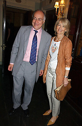 MICHAEL & SANDRA HOWARD at the Tatler Summer Party 2006 in association with Fendi held at Home House, Portman Square, London W1 on 29th June 2006.<br />