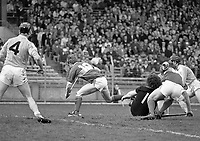 Antrim Vs Tipperary in the Royal Liver National Hurling League quarter final at Croke Park, 20/03/1988 (Part of the Independent Newspapers Ireland/NLI Collection).