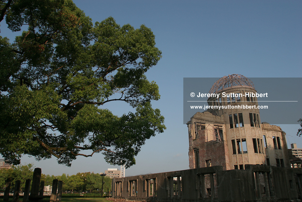 A-Bomb Dome, formerly the Hiroshima Prefectural Industry Promotions Hall, now a memorial to those that died on August 6th 1945. Hiroshima, Japan, 5th August 2005.