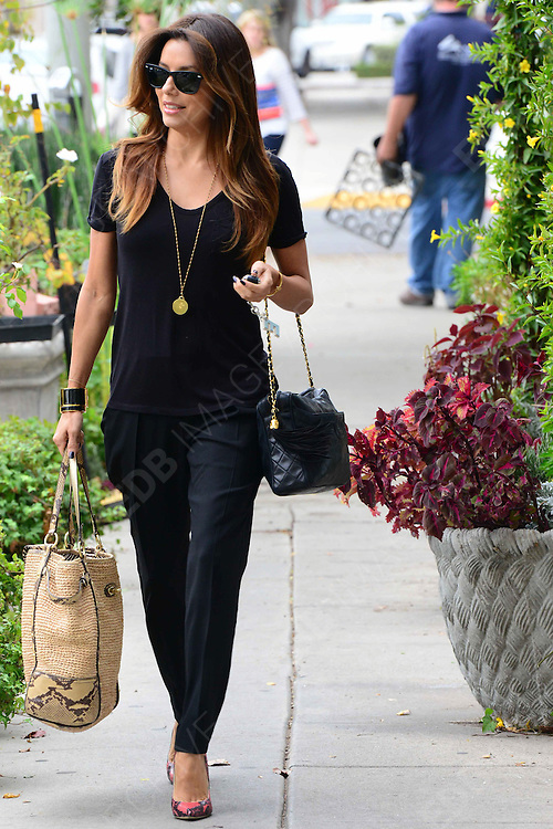 12.NOVEMBER.2013. LOS ANGELES<br /> <br /> CODE - CI<br /> EVA LANGORIA LEAVING THE HAIR SALON IN BEVERLY HILLS. <br /> <br /> BYLINE: EDBIMAGEARCHIVE.CO.UK<br /> <br /> *THIS IMAGE IS STRICTLY FOR UK NEWSPAPERS AND MAGAZINES ONLY*<br /> *FOR WORLD WIDE SALES AND WEB USE PLEASE CONTACT EDBIMAGEARCHIVE - 0208 954 5968*