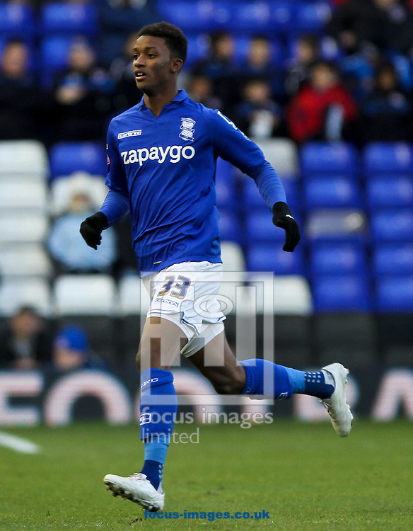 Demarai Gray of Birmingham City and y of Reading during the Sky Bet Championship match at St Andrews, Birmingham<br /> Picture by Tom Smith/Focus Images Ltd 07545141164<br /> 13/12/2014