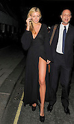 13.JULY.2011. LONDON<br /> <br /> ABBEY CLANCY LEAVES HARRY'S BAR IN MAYFAIR WEARING AN EXTREMELY HIGH SPLIT SEE THROUGH BLACK DRESS.<br /> <br /> BYLINE: EDBIMAGEARCHIVE.COM<br /> <br /> *THIS IMAGE IS STRICTLY FOR UK NEWSPAPERS AND MAGAZINES ONLY*<br /> *FOR WORLD WIDE SALES AND WEB USE PLEASE CONTACT EDBIMAGEARCHIVE - 0208 954 5968*