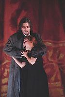 """Royal Opera in Donizetti's """"Lucia di Lammermoor""""<br /> <br /> Lucia: Andrea Rost<br /> Raimondo Bidebend: John Relyea<br /> <br /> <br /> Director: Christof Loy<br /> Designs: Herbert Murauer<br /> Lighting: Rheinhard Traub<br /> Music: Donizetti"""